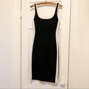Zara B&W Silhouette Dress, Size L